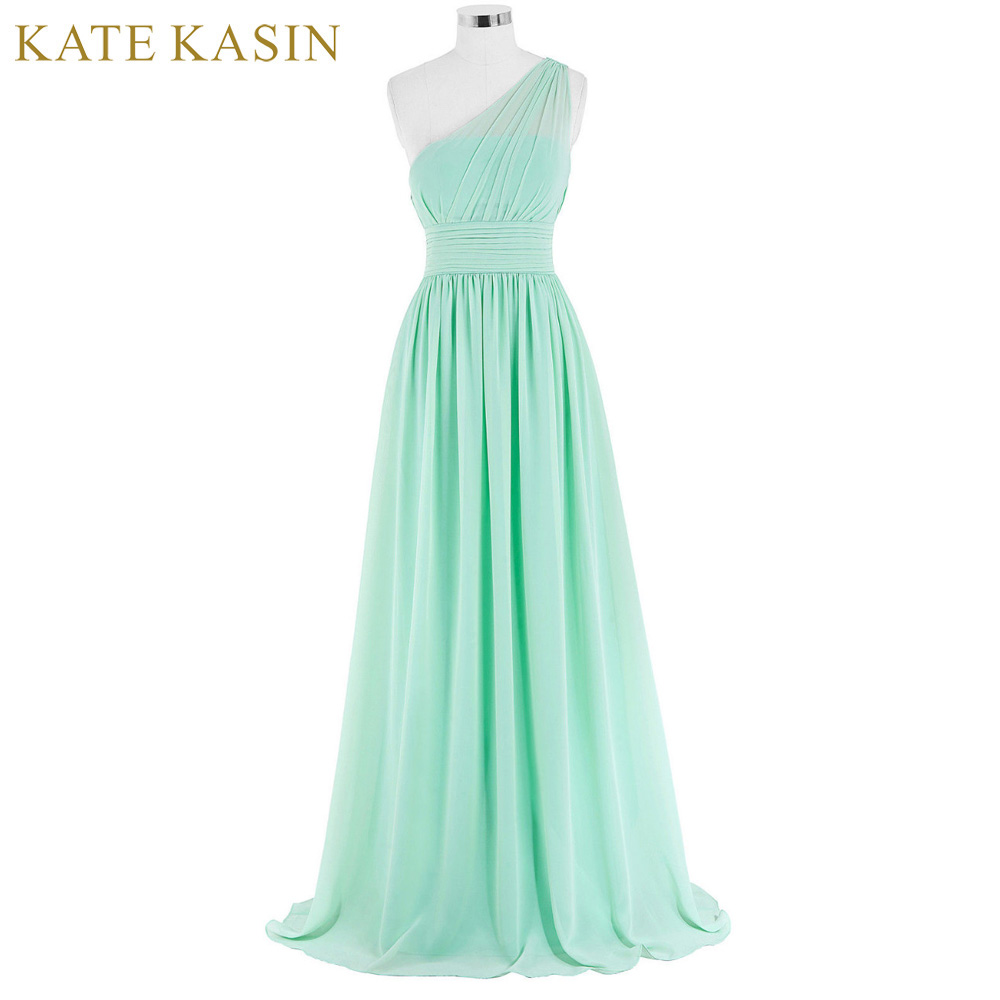 Kate Kasin Mint Green Brautjungfernkleider Lange Kleider Shouler ...