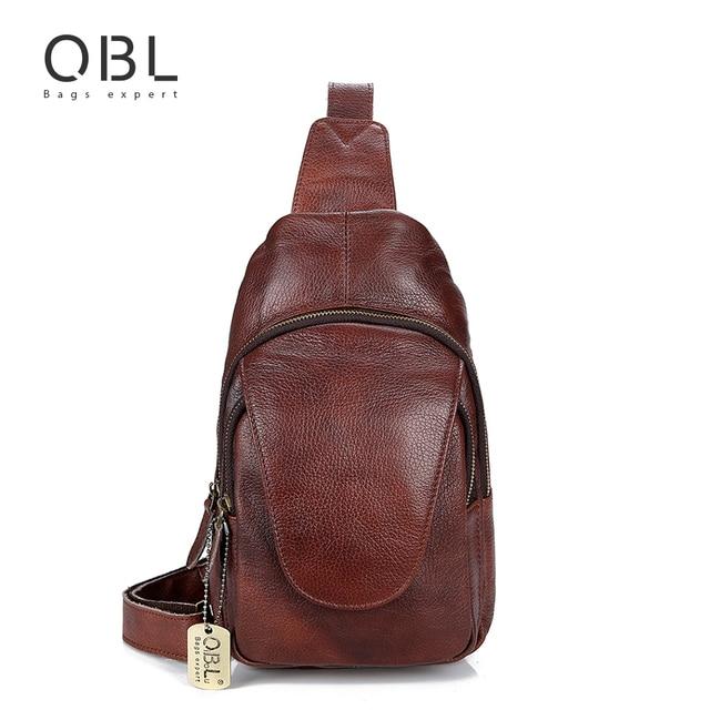 931b2ff1fa QiBoLu 2018 sac à bandoulière en cuir véritable pour hommes sac à  bandoulière unique pour hommes