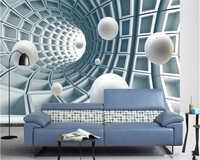 Beibehang Hohe qualität einfache tapete abstrakte tunnel raum drei-dimensional ball 3d hintergrund wand papel de parede tapety