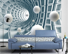 beibehang High quality simple wallpaper abstract tunnel space three - dimensional ball 3d background wall papel de parede tapety