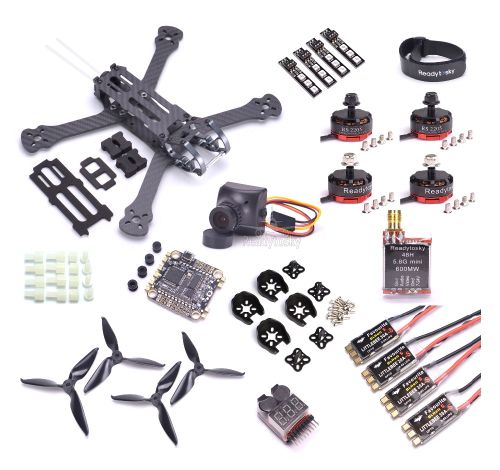Rooster 230 5 FPV Racing Drone F4 PDB Flight Control RS2205 2300KV Motor Littlebee 30a s