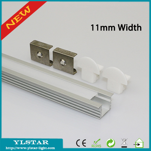 10pcs/lot 1m/pc 11mm width LED lighting aluminum profile extrusion ...