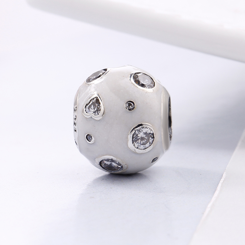 2018 Spring 100% 925 Sterling Silver Fit Original Pandora Bracelet White Pearlescent Dreams Charm DIY Beads for Jewelry Making
