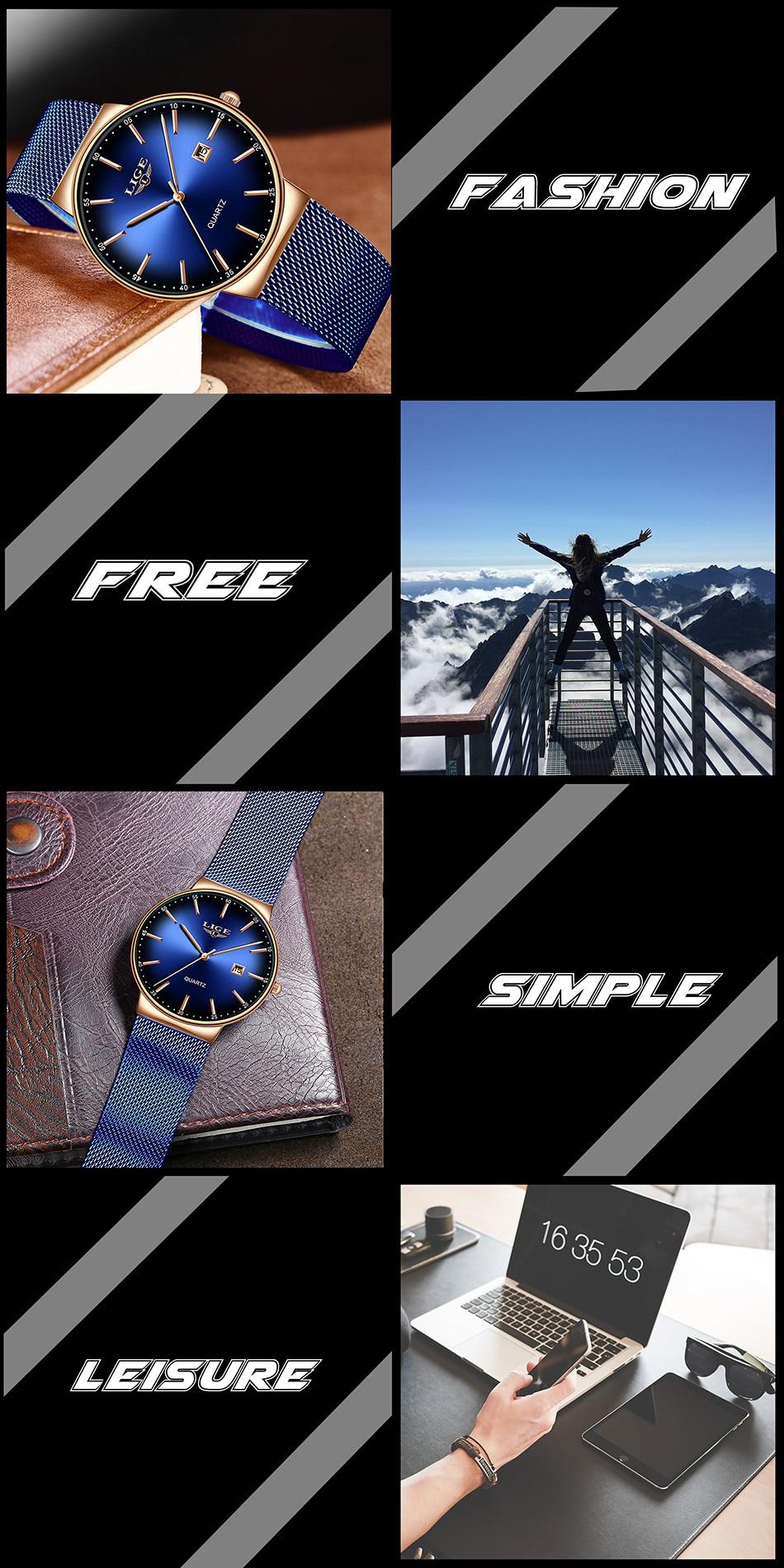 HTB1DtUlQSzqK1RjSZFjq6zlCFXaU LIGE New Mens Watches Top Brand Luxury Fashion Mesh Belt Watch Men Waterproof Wrist Watch Analog Quartz Clock erkek kol saati