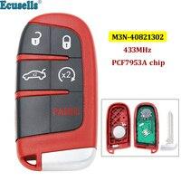 5 botões inteligente remoto chave fob 433 mhz com chip 7953a para dodge dart charger challenger para chrysler 300 para jeep m3n40821302