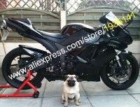 Hot sprzedaż dla kawasaki ninja zx-6r 07 08 2007 636 2008 zx zx6r zx 6r zx636 all black abs sportbike fairing (formowanie wtryskowe)