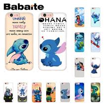 Babaite cute cartoon Lilo Stitch Soft Silicone Phone Case for iPhone 5 5Sx 6 7 7plus 8 8Plus X XS MAX XR Fundas Capa