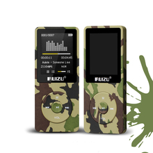 "Original RUIZU X02 Hifi APE/FLAC/WAV MP3 Player 8GB 1.8"" Screen 80 hours Sport Music Mp3 Player FM Radio Voice Recorder E-Book"