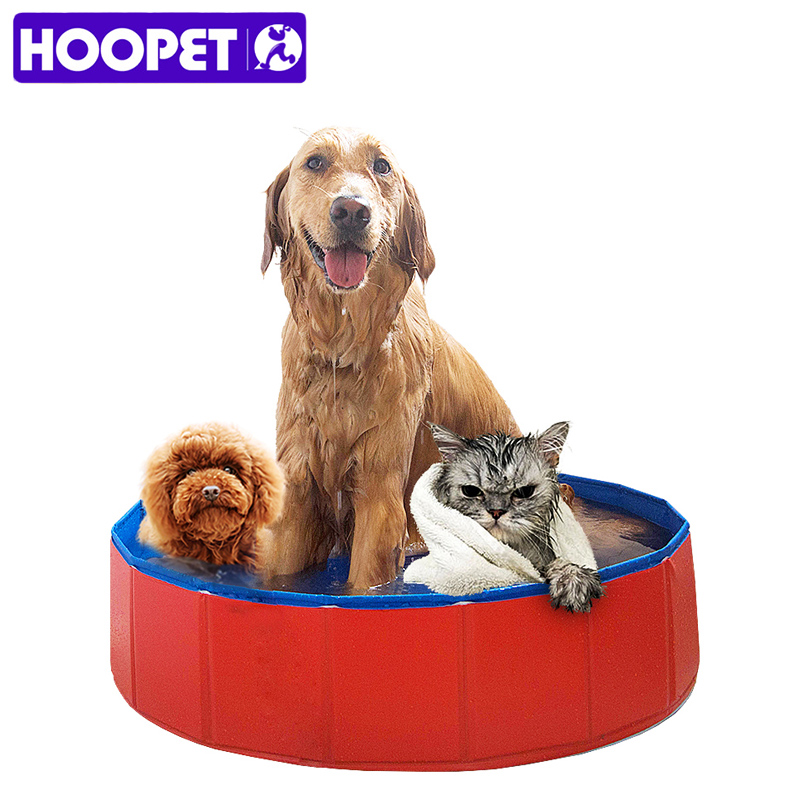 HOOPET Pet Products Large PVC Foldable Swimming Pool Bathtub for Dog and Cat Teddy