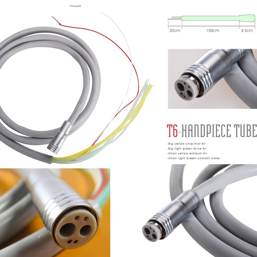 1 PCS Dental 6-ti děrové trubky Připojení pro vysokorychlostní / nízkorychlostní násadec