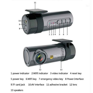 Image 4 - 1080P كامل HD مسجل سيارة DVR كاميرا 30FPS WiFi كشف الحركة 170 درجة السيارات سيارة القيادة مسجل فيديو كاميرا