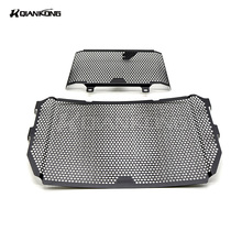 BLACK Oil Cooler Guard Stainless Steel Radiator Grille Cover Protection FOR Yamaha FZ-10 MT-10 2016-2017 MT10 FZ10 MT