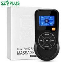 TENS EMS inteligentny elektrostymulator mięśni fizjoterapia masaż głosowy 6 tryb 15 intensywność ulga w bólu USB odchudzanie odchudzanie