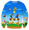 Harajuku cartoon 3d sweatshirt jumper  popular game super mario sweatshirt hoodies pullovers outerwear