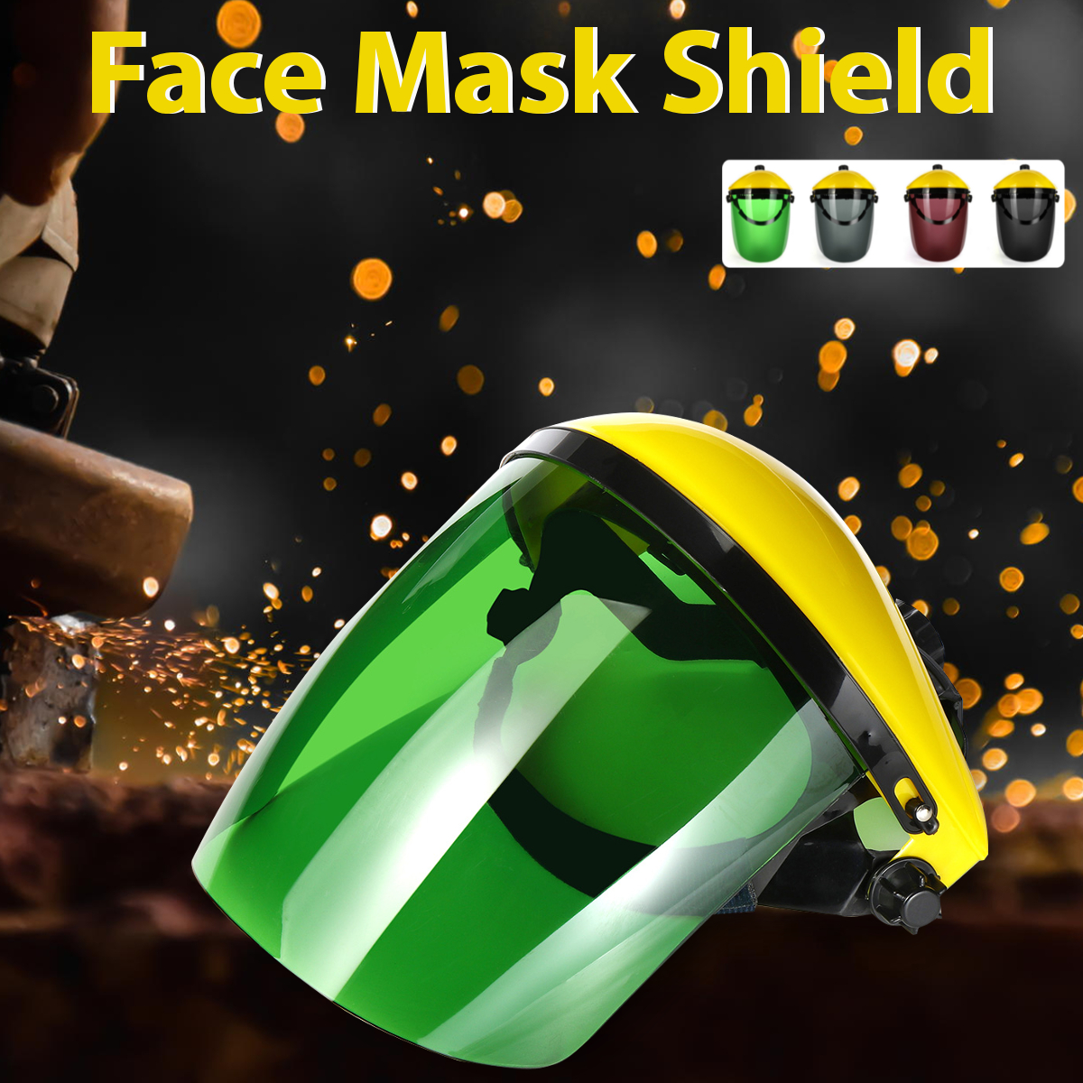 Protective Clear Face Safety Shield Mask Eye Face Protector Black