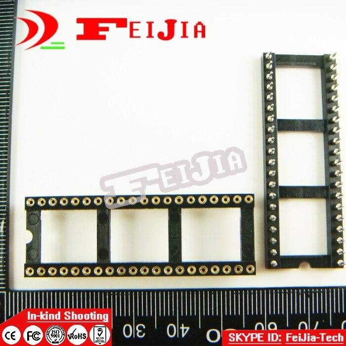 ff2071916b37 6 unids agujero redondo 40 Pasadores ancho 2.54mm DIP IC sockets Adaptador  tipo de soldadura conector IC del envío libre
