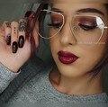 Irregular Clear Glasses Myopia Glasses Transparent Women Men Cat Eye Clear Lens Optical Clear Aviator Glasses Lunette 2017 COOL