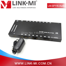 LINK-MI LM-SP116-Audio HD Video 3D 4Kx2k 1080p 1×16 HDMI Splitter 1 In 16 Out With Audio Extraction