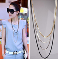 Wholesale Long Necklace Multilayer Chain Women High Quality Vintage Jewelry Metal Sweater Chain necklaces