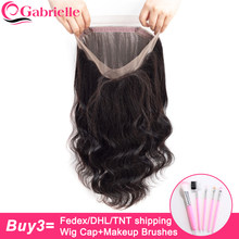Gabrielle Hair Malaysian Body Wave Pre Plucked 360 Lace Frontal Closure with Baby Hair Non Remy Human Hair Frontal Free Shipping(China)