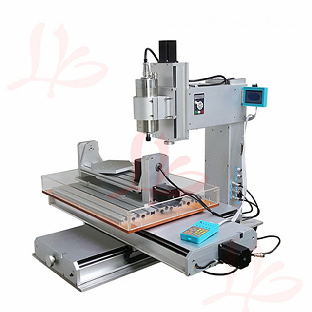 2200w water cooled spindle 5 axis DIY mini cnc milling machine 3040 Ball Screw Table Column Type metal wood router with cutter