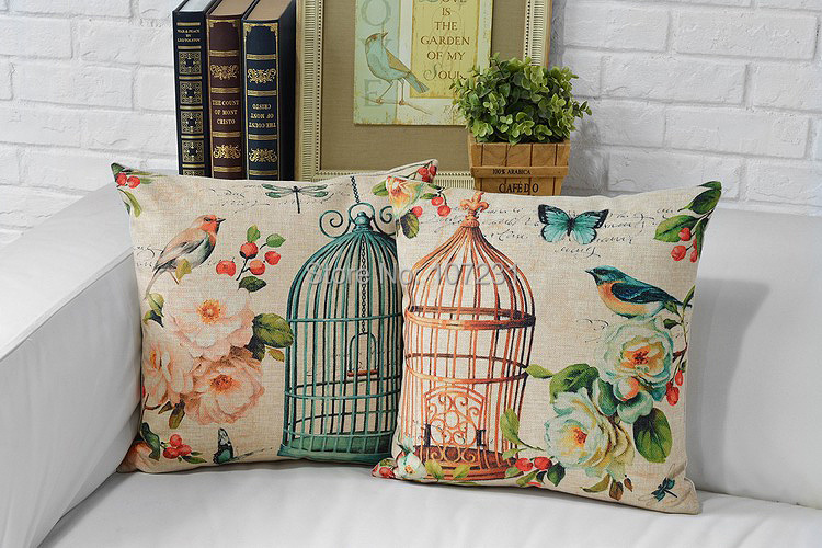 New 2pcs a lot Vintage Linen Pillow Cushion Cover Throw decorative - Home Textile - Photo 1