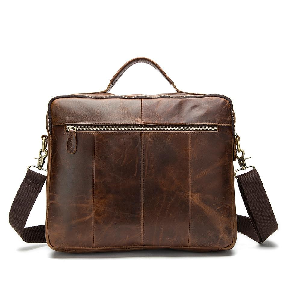 Marka męska torba ze skóry naturalnej Crossbody torby casualowe torby tote mężczyźni teczki torebki na laptopa mężczyźni na ramię bagTravel torby w Torby z uchwytem od Bagaże i torby na  Grupa 3