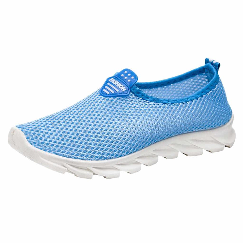 2019 Vrouwen Vulcaniseer Schoenen Sneakers Dames Leisure Ademend Mesh Outdoor Schoenen Stevige Slip Op Fitness Sport Sneakers Schoenen