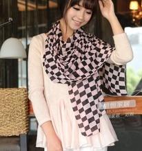 Горячая элегантных женщин шарф мода печать большие размер леди шали и палантины пашмины шелковые шарфы пляж солнцезащитный крем палантины