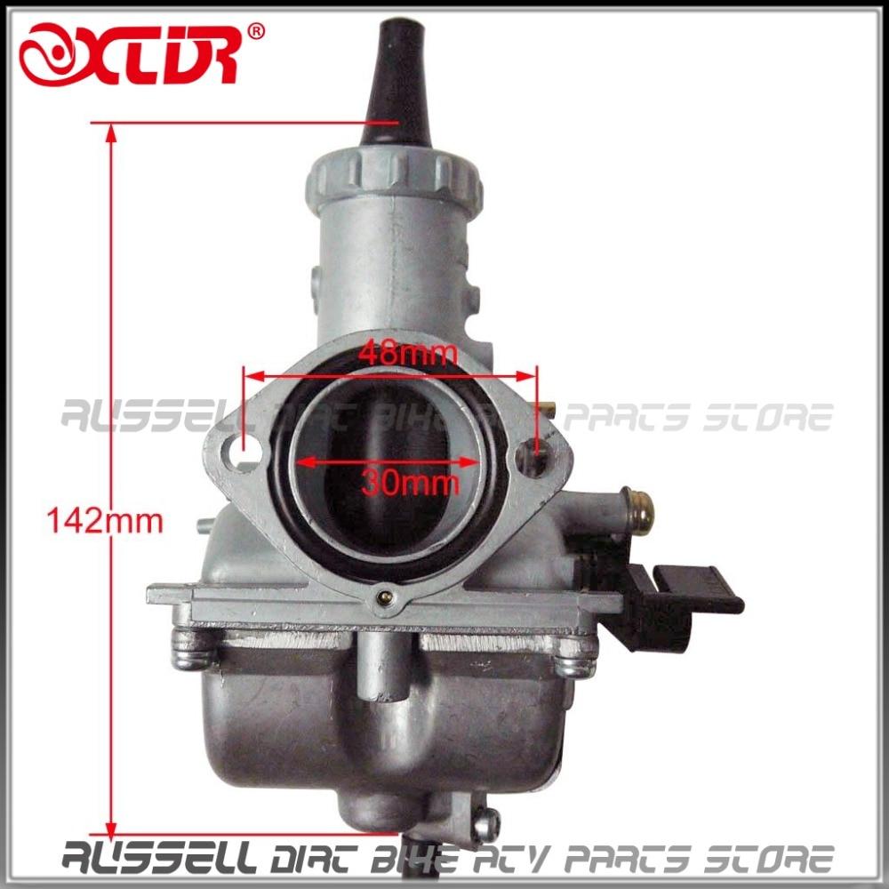 ФОТО Mikuni VM26 30mm Carburetor Carb For Honda XR200R CRF KAWASAKI KLX YAMAHA TTR 150cc 160cc 200cc 250cc ATV Dirt Pit Bike