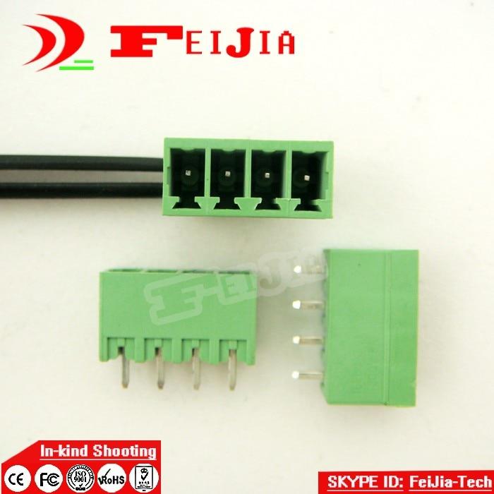 15EDGVC-3.81-4P Reta Pin Screw Terminal Block Conector Plugável tipo N ° 1