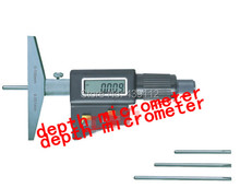free shipping 0-100mm Electronic Digital Depth Micrometer caliper 0-4″