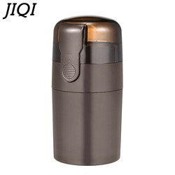 JIQI Powerful Electric Coffee Grinder Mini Kitchen Salt Pepper Grinder Spice Nuts Seeds Coffee Bean Machine Retractable cable