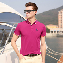 HIYSIZ New Hot T-Shirts 2019 Soft Streetwear Knight Pattern Casual Men T Shirt Turn-down Collar TShirts For Summer ST014
