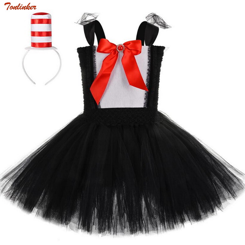 Girls Magician Costume With Hats Kids Caster Tutu Dress Role Play Fancy For Toddlers Children Clothes 8T
