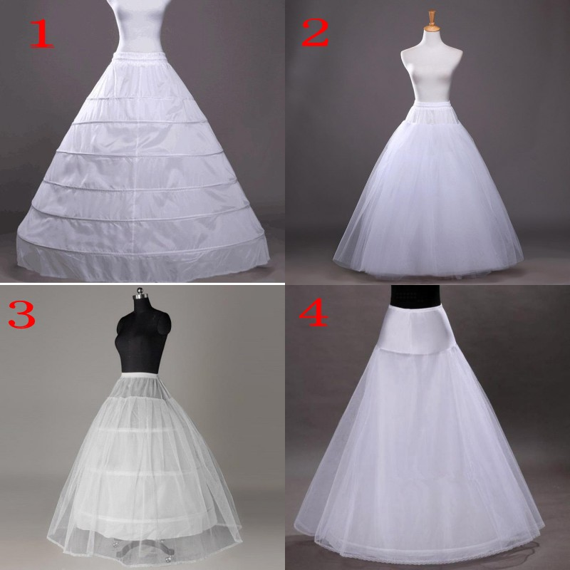 White Hoop Long Wedding Bridal Petticoat Crinoline Ball Gown Skirt Underskirt Wedding Accessories jupon mariage
