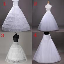 White Hoop Long Wedding Bridal Petticoat Crinoline Ball Gown Skirt Underskirt Accessories jupon mariage