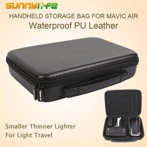 Image 2 - Portable Handheld Storage Bag Waterproof PU Carrying Case Accessory Shoulder Bag PU EVA Suitcase for DJI Mavic Air