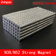 Jtengsys 120pcs/lot Super Strong Rare Earth mini 5mm x 4mm Permanet Magnet Round Neodymium N52 N38 5*4MM plate nickel