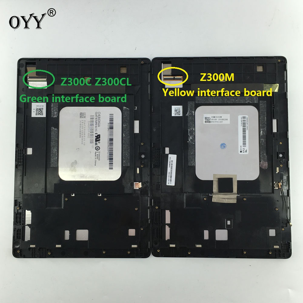 10 1 LCD Display Touch Screen Panel Digitizer Frame Assembly For ASUS ZenPad Z300C P01T Z300M