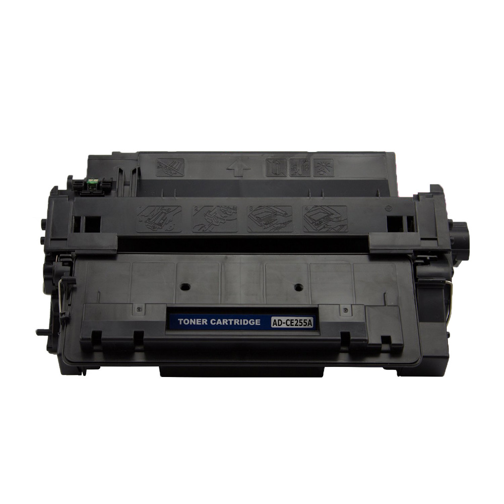 Hisaint Listing Compatible Replacement For HP CE255A 55A Toner Cartridge Black (6,000 Page Yield) For HP LaserJet P3015 Hot Sale high page yield toner 12x compatible