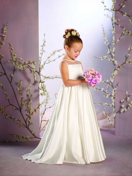 Sleeveless Satin Mother Daughter Dresses with Button A-Line Kids Dresses for Girls Ankle-Length Flower Girl Dresses for Weddings a line knee length taffeta sleeveless flower girl dress for weddings jewel neck princess girls satin mother daughter dresses