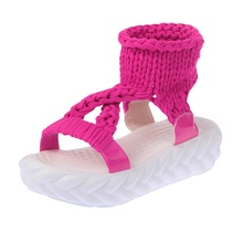 Platform women's sandals knitted fabrics lightweight and comfortable non-slip fashion summer casual shoes women sandals