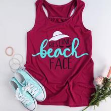 """""""Resting Beach Face"""" Women's Beach Tank Top"""