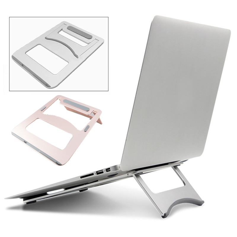 Notebook Holder Laptop Stand Notebook Support Universal Portable Aluminum Alloy 2 Color Desktop Stents