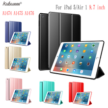 Kaibassce Tablet Case Flap Smart Sleep TPU Soft Case Cover for  iPad Air 1 iPad 5 9.7 inch A1474 A1475 A1476