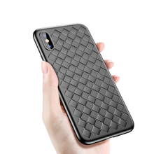 Baseus Luxury Grid Weaving Case For iPhone X