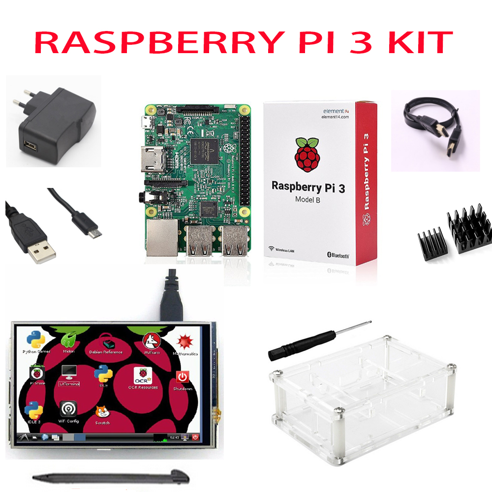 NEW Raspberry Pi 3 Starter Kit with Original Raspberry Pi 3 Model B + 5V 2.5A Power Supply + Heatsinks + ABS Case / Orange PiNEW Raspberry Pi 3 Starter Kit with Original Raspberry Pi 3 Model B + 5V 2.5A Power Supply + Heatsinks + ABS Case / Orange Pi