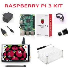 НОВЫЙ Raspberry Pi 3 Starter Kit с Оригинальной Raspberry Pi 3 Модель B + 5 В 2.5a питания + радиаторы + abs случае/orange pi