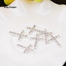 Новое прибытие горный хрусталь крест украшение используется на ожерелье или украшение 16 мм* 22 мм 10 шт/партия Серебряный цвет KD543
